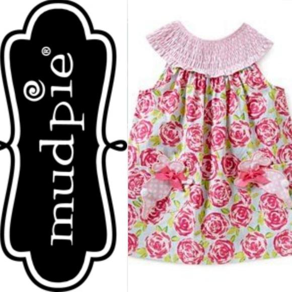 8dbd91289 Mud Pie Dresses | Mudpie Pink Polkadot Smocked Floral Bunny Dress ...